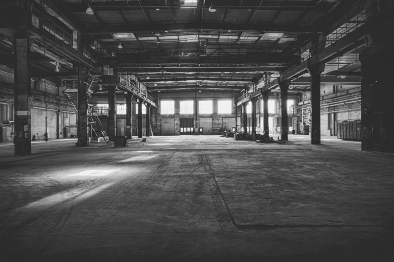 Phoenixhalle schwarz weiß - Foto peter hähnel