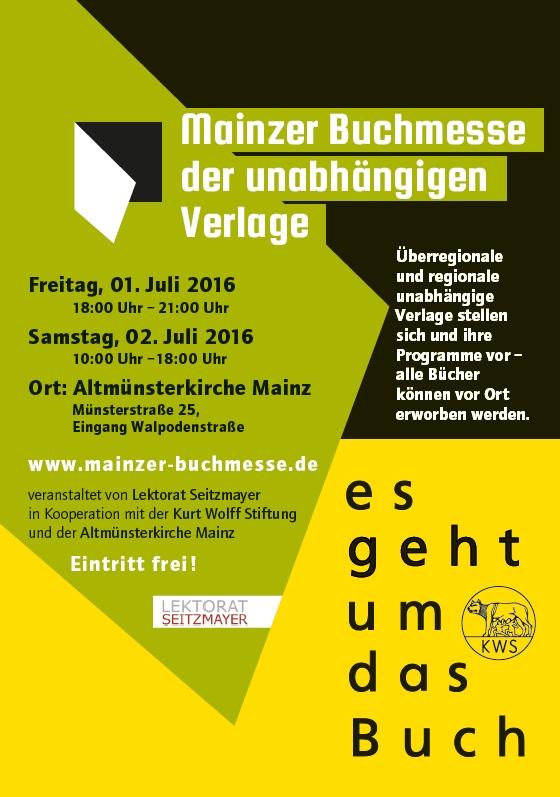 Plakat Mainzer Buchmesse der unabhängigen verlage