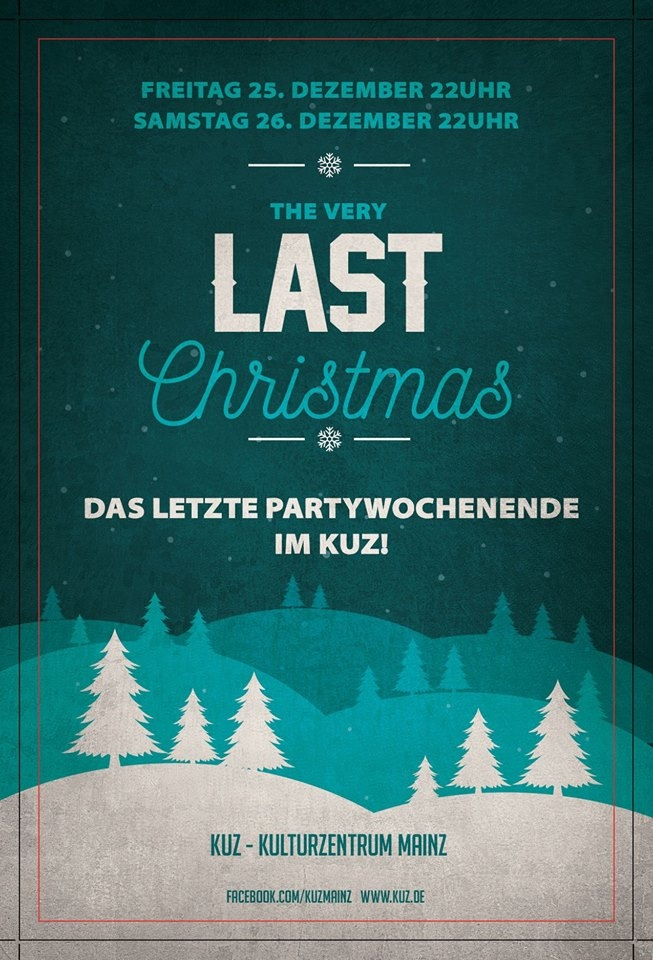 Plakat The Very last Christmas im KUZ