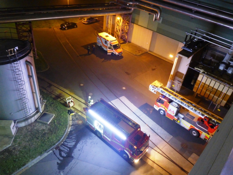 Feuerwehr Mainz: Brand in den Kraftwerken, Hund im Rhein, Frau vermeintlich im Rhein