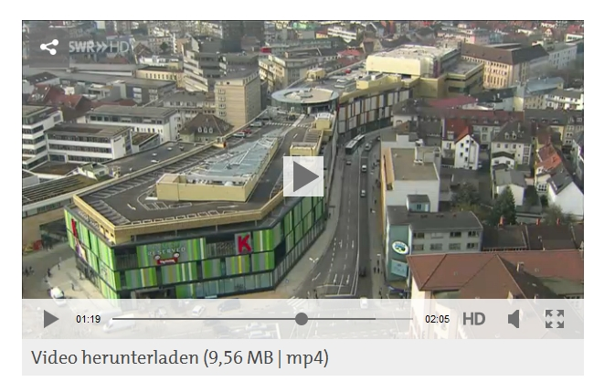 SWR Video Einweihung ECE-Mall K in Lautern
