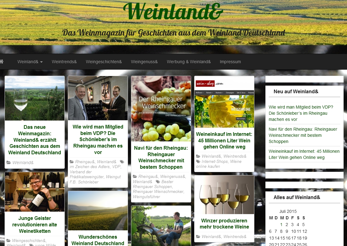 Screenshot Weinland&